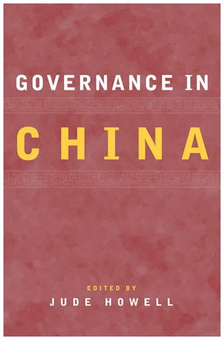 Governance in China   2003 9780742519886 Front Cover