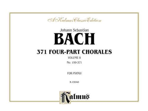 371 Four-Part Chorales, Vol 2 For Organ or Piano  1985 edition cover