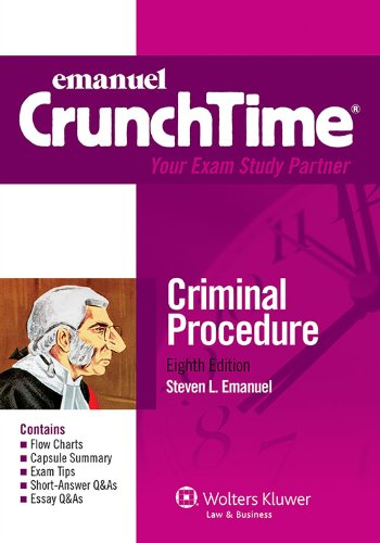 Criminal Procedure  8th (Student Manual, Study Guide, etc.) edition cover