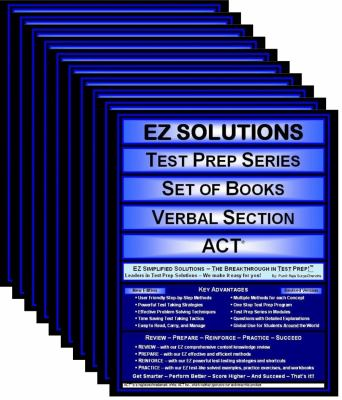 EZ Solutions: Test Prep Series: Set of Books: Verbal Section : ACT (5 Books)  2011 edition cover