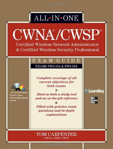 CWNA/CWSP Certified Wireless Network Administrator and Certified Wireless Security Professional   2010 edition cover