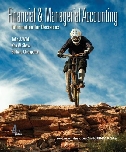 Financial and Managerial Accounting  4th 2011 edition cover