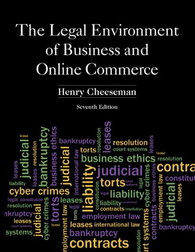 Legal Environment of Business and Online Commerce  7th 2013 9780132870887 Front Cover