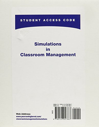 Simulations in Classroom Management   2011 9780137057887 Front Cover