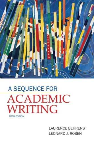 Sequence for Academic Writing  5th 2012 (Revised) edition cover