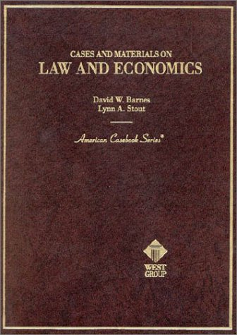 Cases and Materials on Law and Economics   1992 edition cover