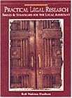 Practical Legal Research Skills and Strategies for the Legal Assistant  1995 9780314043887 Front Cover