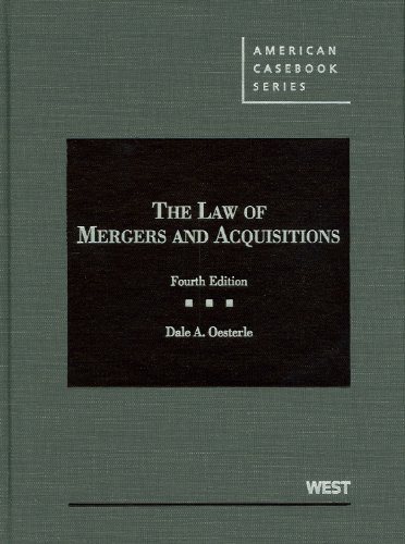 Law of Mergers and Acquisitions  4th 2012 (Revised) edition cover