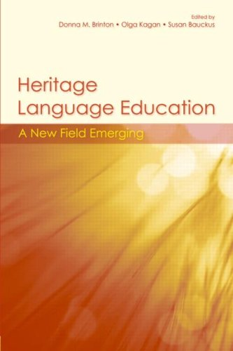 Heritage Language Education A New Field Emerging  2009 edition cover