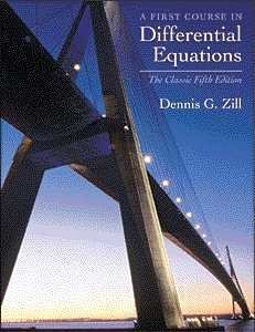 First Course in Differential Equations  5th 2001 (Revised) 9780534373887 Front Cover