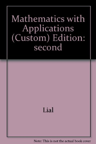MATHEMATICS W/APPL.>CUSTOM< N/A 9780536481887 Front Cover