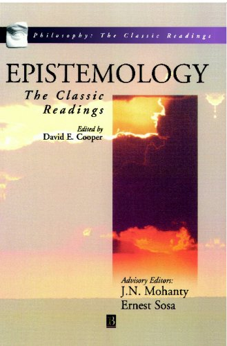 Epistemology The Classic Readings  1999 edition cover