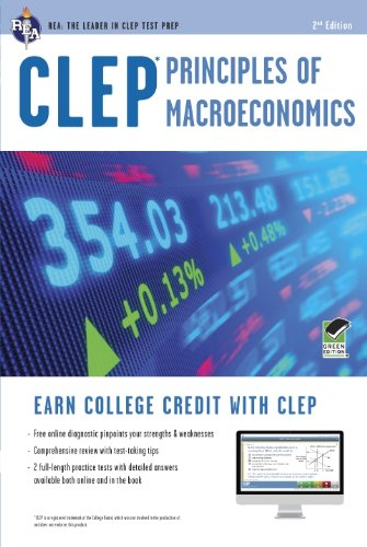 Clep Principles of Macroeconomics With Online Practice Tests:   2012 edition cover