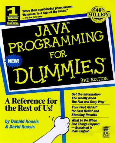 Java Programming for Dummies  3rd 1998 9780764503887 Front Cover