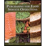PURCHASING FOR FOOD SERVICE OP 1st edition cover