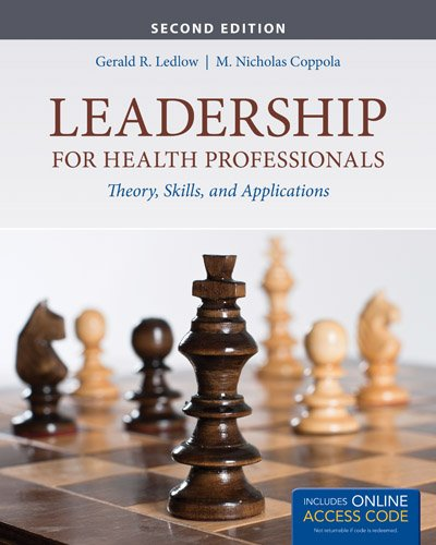 Leadership for Health Professionals  2nd 2014 edition cover