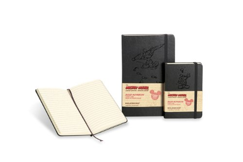 Moleskine Mickey Mouse Limited Edition Notebook, Pocket, Ruled, Black, Hard Cover (3. 5 X 5. 5)   2013 9788866137887 Front Cover