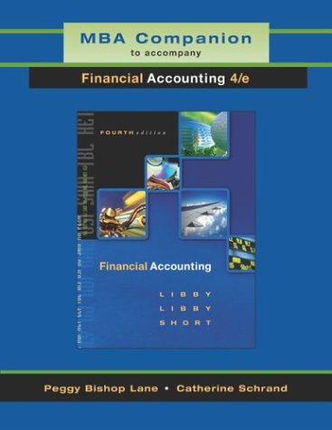 Financial Accounting : MBA Companion 4th 2004 9780072553888 Front Cover