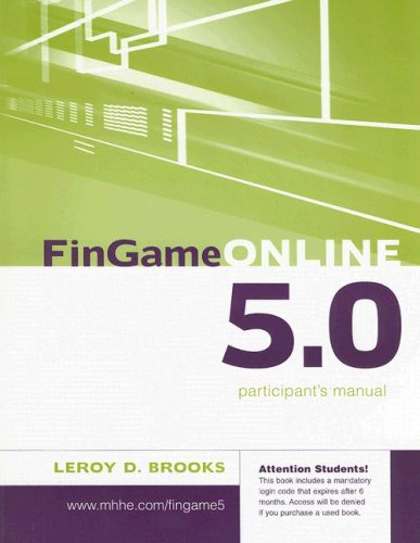 FinGame Online 5.0 Participant's Manual  5th 2008 edition cover