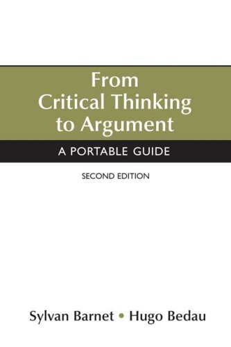 From Critical Thinking to Argument A Portable Guide 2nd 2008 edition cover