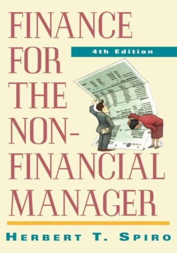 Finance for the Nonfinancial Manager  4th 1996 (Revised) edition cover