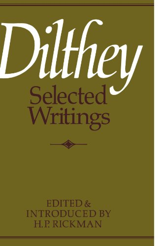 Dilthey Selected Writings   1979 edition cover