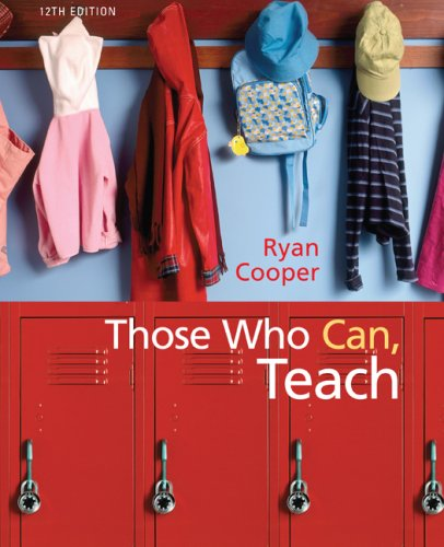 Those Who Can, Teach  12th 2010 edition cover