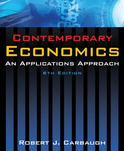 Contemporary Economics An Applications Approach 6th 2011 (Revised) edition cover