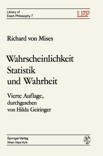 Wahrscheinlichkeit Statistik und Wahrheit  4th 1972 9783709182888 Front Cover