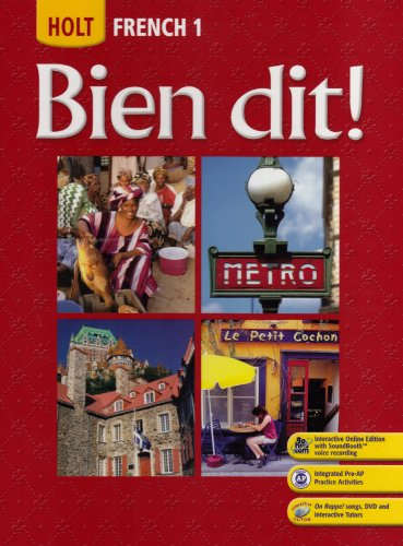 Bien Dit! - French 1   2007 9780030398889 Front Cover