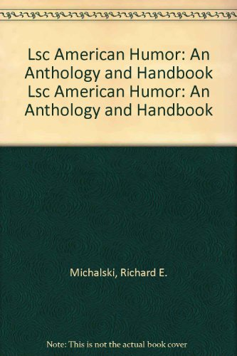 American Humor An Anthology and Handbook  1998 edition cover