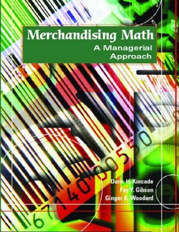 Merchandising Math A Managerial Approach  2004 9780130995889 Front Cover