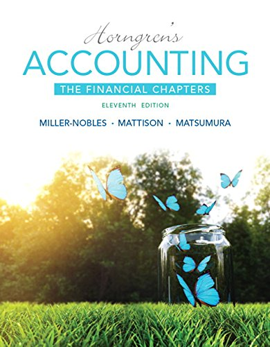 Horngren's Accounting, the Financial Chapters  11th 2016 edition cover