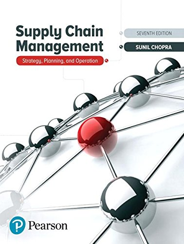 Supply Chain Management Strategy, Planning, and Operation 7th 2019 9780134731889 Front Cover