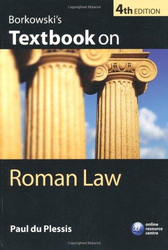 Borkowski's Textbook on Roman Law  4th 2010 edition cover