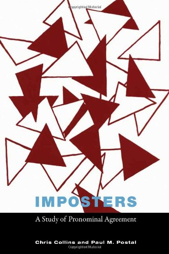 Imposters A Study of Pronominal Agreement  2012 9780262016889 Front Cover