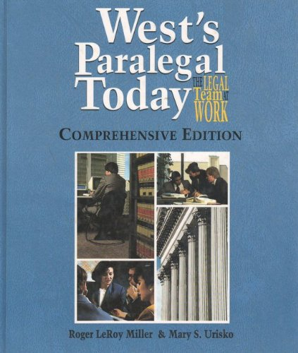 Wests Paralegal Today Comprehensive Edition Unabridged  9780314065889 Front Cover