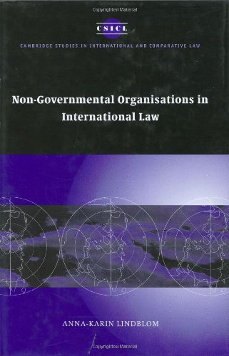 Non-Governmental Organisations in International Law   2005 9780521850889 Front Cover