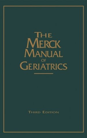 Merck Manual of Geriatrics  3rd 2000 (Revised) edition cover