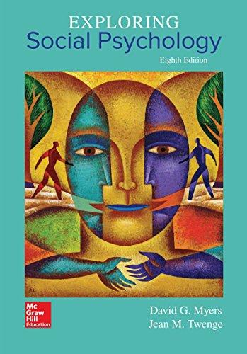Exploring Social Psychology:   2017 9781259880889 Front Cover