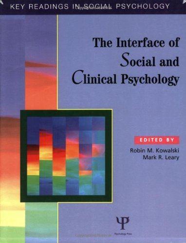 Interface of Social and Clinical Psychology Key Readings  2004 edition cover