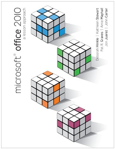 Microsoft Office 2010 A Lesson Approach  2011 edition cover