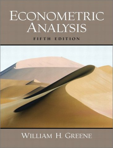Econometric Analysis  5th 2003 edition cover