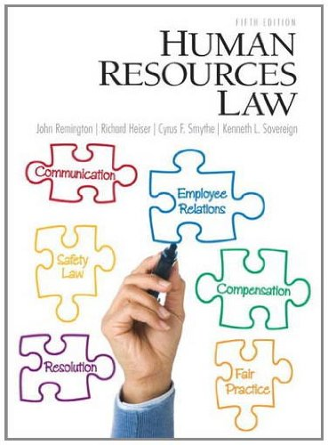 Human Resources Law  5th 2012 (Revised) edition cover