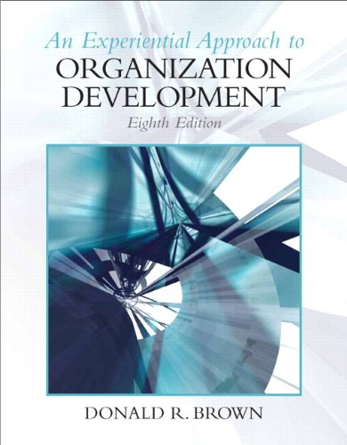 Experiential Approach to Organization Development  8th 2011 edition cover