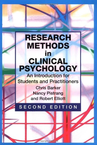 Research Methods in Clinical Psychology An Introduction for Students and Practitioners 2nd 2002 (Revised) 9780471490890 Front Cover