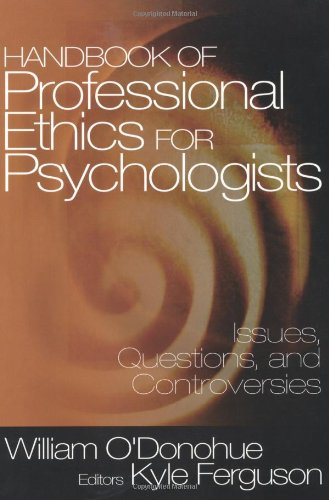 Handbook of Professional Ethics for Psychologists Issues, Questions, and Controversies  2003 edition cover