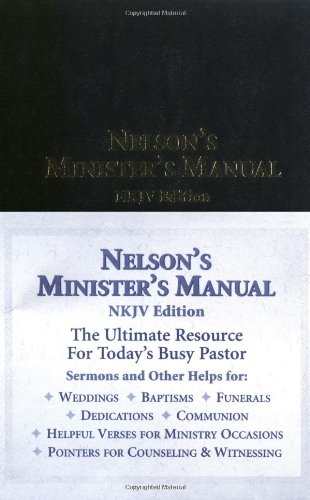 Nelson's Minister's Manual   2003 edition cover