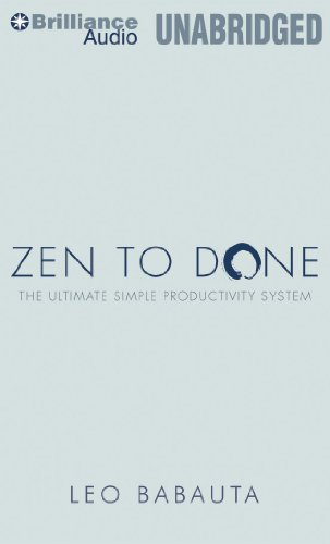 Zen to Done: The Ultimate Simple Productivity System  2011 edition cover