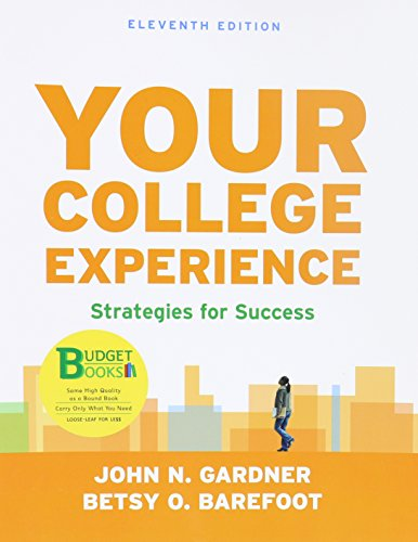 Your College Experience: Strategies for Success  2013 edition cover